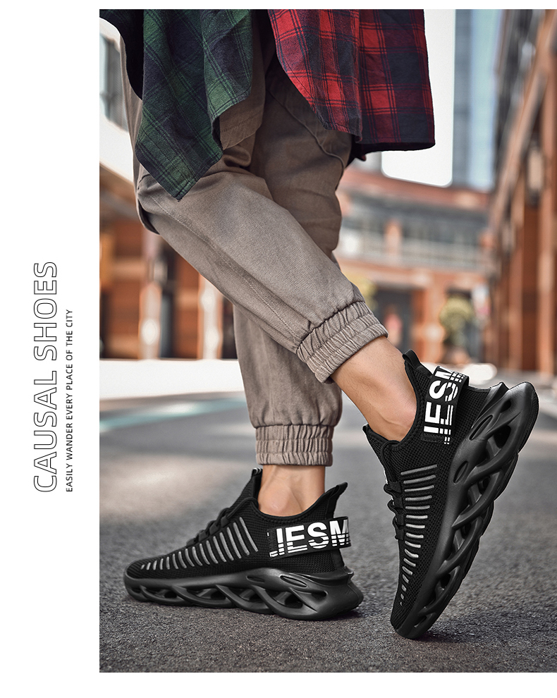 Mens Sneakers Casual Mesh Breathable Male Sneakers Height Increase Shoes Fashion Men Shoes Size 39-46  Masculino Adulto