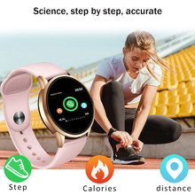 LIGE Fitness Tracker IP67 Waterproof Smart Watch Screen Heart Rate Monitor Pedometer Bracelet OLED Bluetooth Women
