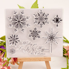 Transparent Stamps Snowflake Christmas Clear Stamp Rubber Silicone Scrapbooking for Card Making Album Craft Decor New 2019 Stamp au1212 austria 2012 christmas maria sarkozy altar painting stamp 1 new 1206