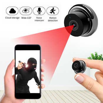 1080p sem fio mini wifi câmera ip câmera de segurança em casa ir visão noturna movimento detectar monitor do bebê p2p cctv vigilância