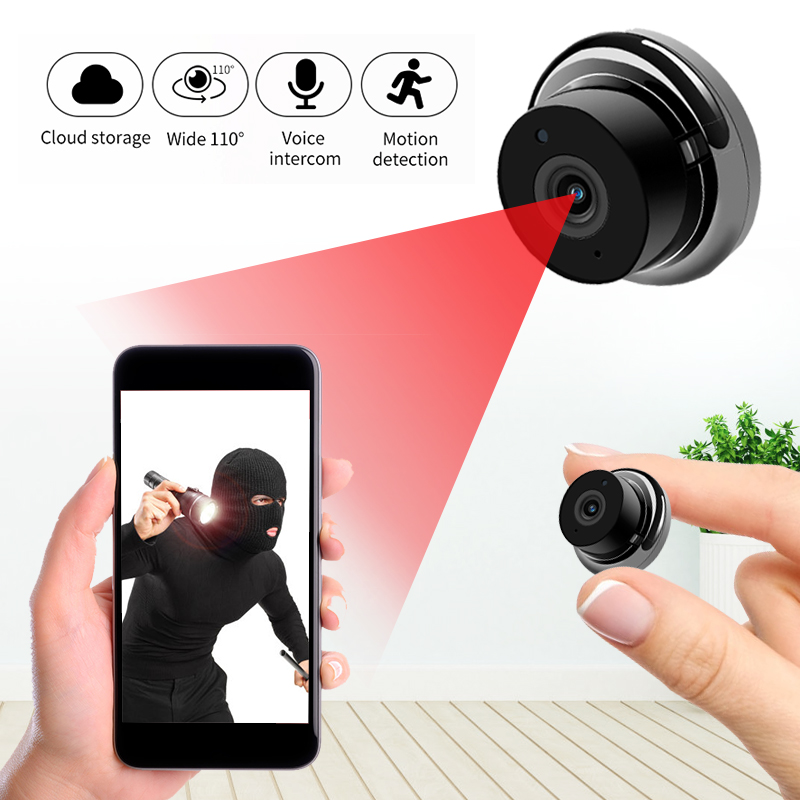 Mini cámara inalámbrica WiFi 1080P, cámara IP de seguridad para el hogar, visión nocturna IR, detección de movimiento, Monitor para bebé, vigilancia CCTV P2P