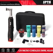 SPTA Cordless Mini Car Polisher, 12V Micro Cordless Scratches Killer Car Polisher RO/DA Mini Car Polisher for polishing, Sanding