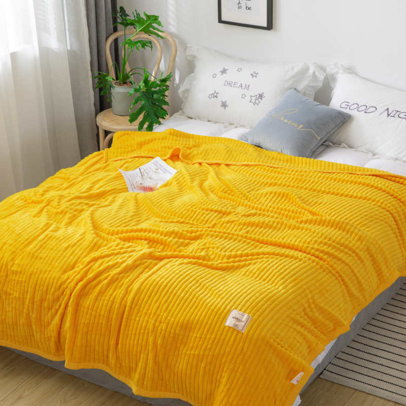 LREA thicken flannel fleece coral seeping blanket for beds polar fabric throw for sofa winter home decoration Comfortable skin