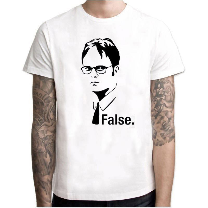 The Office Dwight Schrute Tv Series Man TShirt Short Sleeve O-Neck T-shirt Men Jersey Fitness Harajuku Clothes Camisetas Hombre