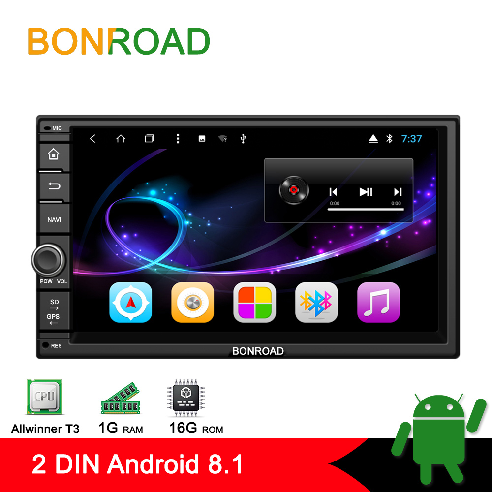 Bonroad 2Din 1024 600 Android 8 1 Universal Car Tap PC Tablet For Nissan For Hyundai
