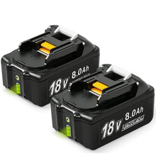 Rechargeable Battery Replacement Batteries 18V 8.0Ah Lithium ion for Makita BL1840 BL1850 BL1860 BL1830 LXT 400 Cordless Drills