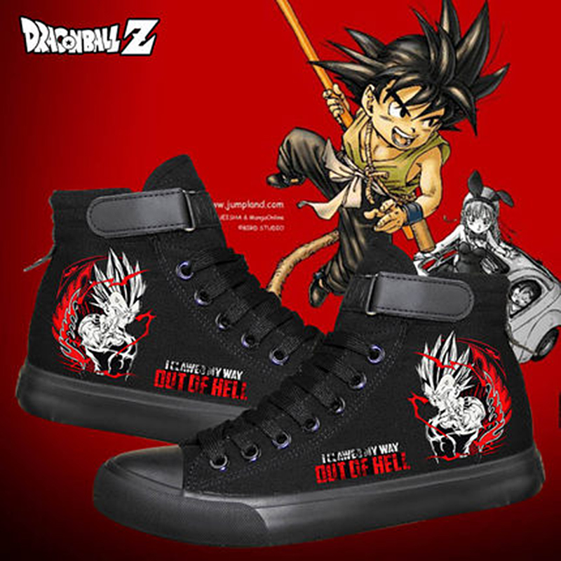 Canvas Shoes Dragon-Ball-Printing Women Anime Lovers New Black for Teens Students Leisure title=