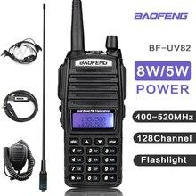 8 واط Baofeng الأشعة فوق البنفسجية 82 جهاز إرسال واستقبال لاسلكي UV82 اسلكية تخاطب VHF UHF الماسح الضوئي راديو UV 82