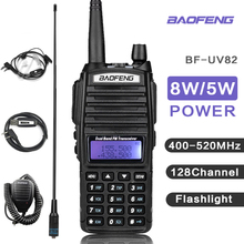 8 Вт Baofeng UV 82 Walkie Talkie Transceiver UV82 Walkie Talkie VHF сканер UHF Radio UV 82