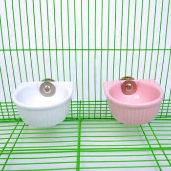 Pet Food Bowl For Hamster Parrot Pet Water Food Feeder Anti-overturned Foods Bowl Feeding Dish Rabbit Cage Feeder 4
