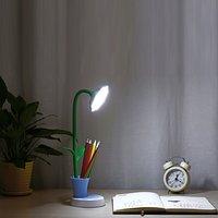 Durable LED Reading Light Flower Shape Eye Care Desk Lamp Flexible Neck Light For Studying Working Bedroom|Desk Lamps| |  -