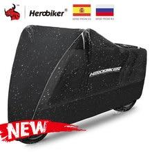 HEROBIKER אופנוע כיסוי Moto גשם קרם הגנה Dustproof עמיד למים גשם UV כיסוי עבור קטנוע אופני גשם Dustproof כיסוי שחור