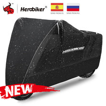 Herobikerオートバイカバーモト雨日焼け防塵防水レインuvカバースクーターバイク雨防塵カバー黒