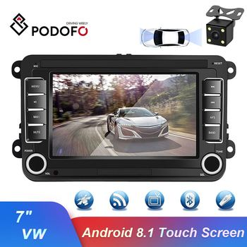 Podofo Android 8.1 7'' 2Din GPS Car Multimedia Video Car Player 2 Din WIFI Auto Radio Stereo Audio For VW/Skoda/Passat/Golf/Polo image