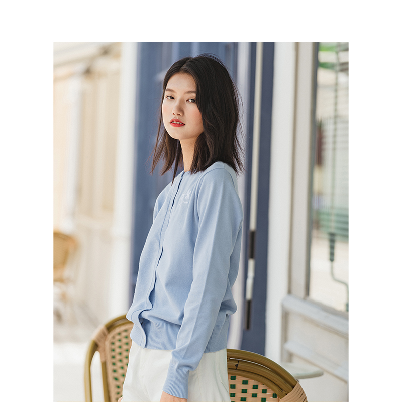Image 3 - INMAN Spring Autumn Winter Embroidery O neck Solid Literary All Matched Women CardiganCardigans   -