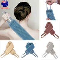 Bath Towel Sponge Long Strip Linen Durable Rub Back Rubbing Towel for Shower Sling