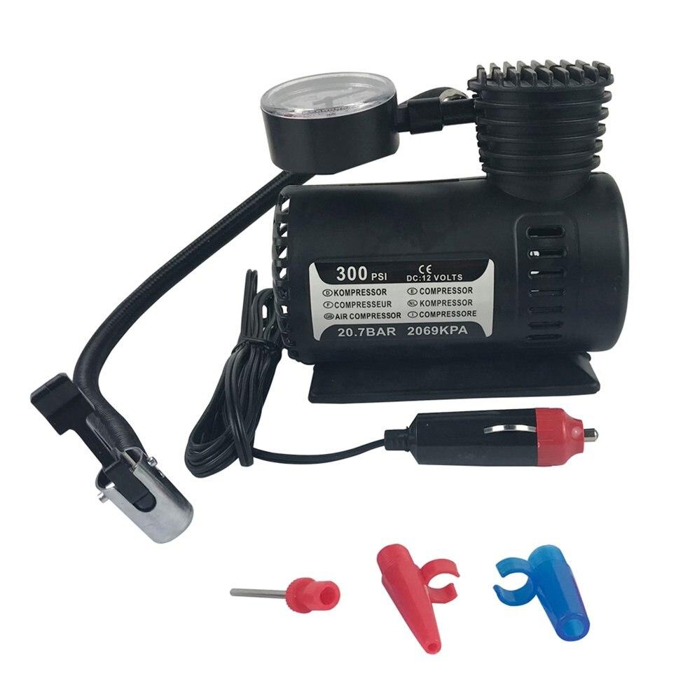 Mew Quick Flow Compact Air Compressor,12v Car Electric Mini Compact Compressor Pump Bike Tyre Air Inflator 300psi