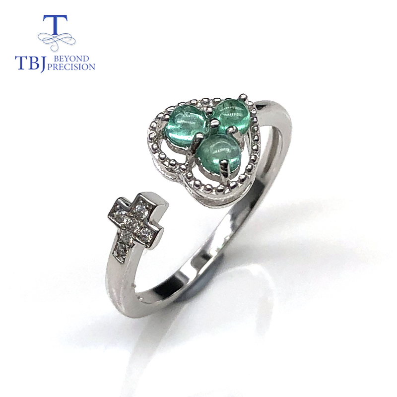 Natural Emerald Rings Small Emerald Round 3.0 Mm Gemstone Sterling Silver 925 Fine Jewelry Special Gift For Women Wife
