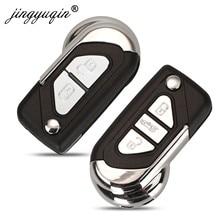 Jingyuqin – coque de télécommande rabattable pour citroën DS3, Puegeot 2/3 boutons non coupés VA2, couvercle du boîtier de la lame de la clé