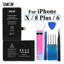 Deji Battery For iPhone X 8 Plus 6 8P iPhoneX iPhone6 iPhone8P Li-polymer Bateria +Tools Apple 8Plus 2019