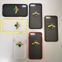 Bee phone case for cover iphone 8 7 6 6s plus funda iphone 7 8 xr x xs max protective shockproof case bumper silicone hard gem kinston protective bumper frame case for iphone 6 4 7 black