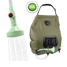 Outdoor solar 20L shower bag hiking camping portable shower bag hose can switch shower head solar outdoor camping shower bag 20 liters 5 gallons