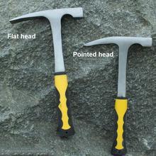 MeterMall Geological Exploration Hammer Pointed Mineral Exploration Geology Hammer Hand Tool