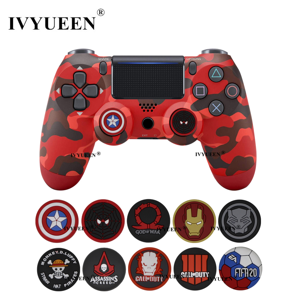 IVYUEEN 2 Pcs Analog Thumb Grips For Sony Dualshock 4 PS4 Pro Slim Controller Stick Caps Cover For XBox One X S 360 For Switch