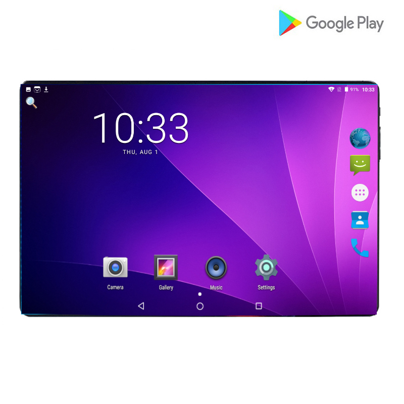 New 10 Inch 4G LTE Phone Call Octa Core 6GB RAM 64GB ROM Android Tablets PC 64GB 6000mAh 1280*800 IPS Dual Cameras Wifi A-GPS