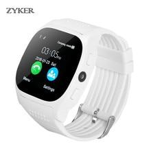 ZYKER New Bluetooth Smart Watch Waterproof Smartwatch Pedometer Fitness Tracker Support SIM TF Card Call with Camera