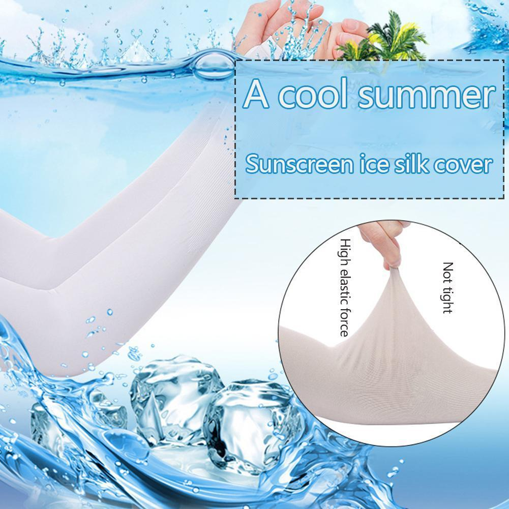 1 Pair Summer Sun Protection Ice Sleeve Unisex Thin Riding Cuff Protection Arm Protection Outdoor Cushion Sun UV Arm F7R7