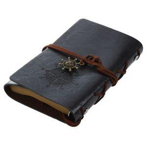 Ретро Винтажные кожаные пустые страницы дневник блокнот (черный) S