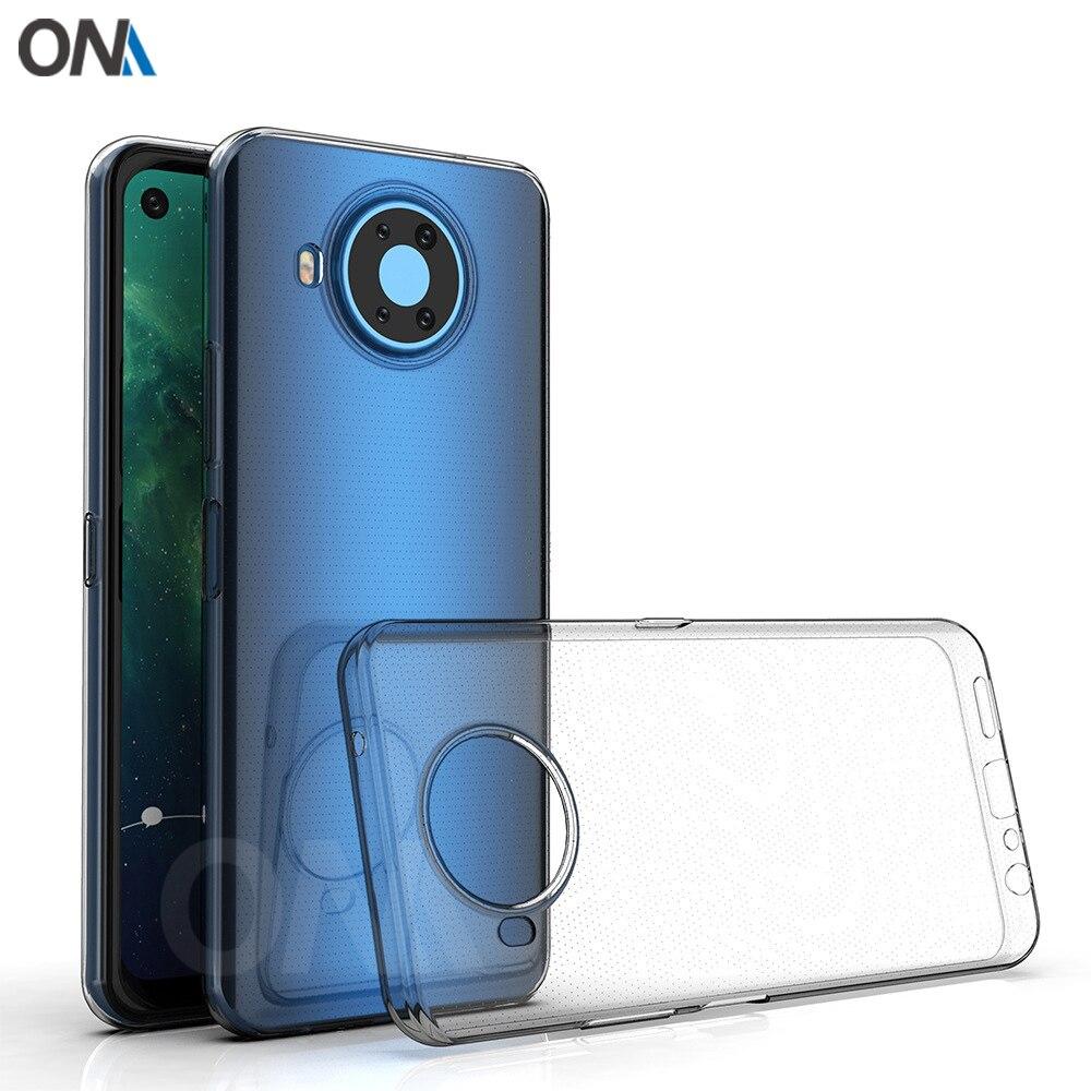 Pokrowiec na Nokia 8.3 5G TPU silikonowy przezroczysty futerał na zderzak do Nokia 8.3 5G przezroczysta tylna okładka