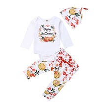 Halloween Newborn Toddler Kid Baby Girls Cotton Pumpkin Romper Tops+Long Pants Legging Outfits Festival Clothes Set 0-24M(China)