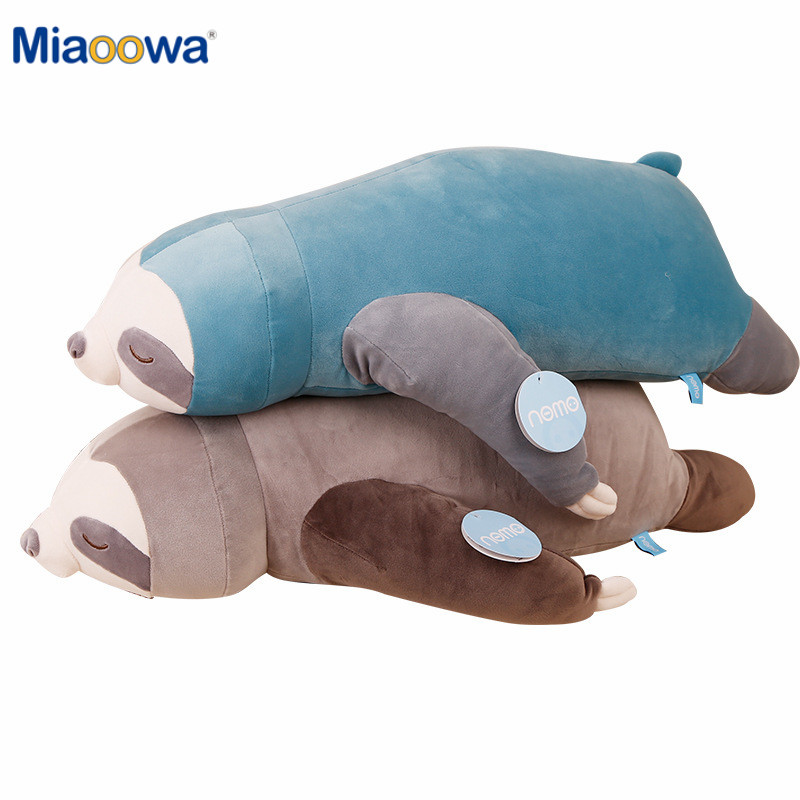 65-100CM Soft Simulation New Cute Stuffed Sloth Toy Plush Sloths Soft Toy Animals Plushie Doll Pillow For Kids Birthday Gift