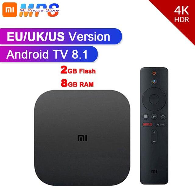 Orijinal küresel Xiao mi mi TV kutusu S 4K HDR Android TV 8.1 Ultra HD 2G 8G WIFI Google Cast Netflix IPTV Set top Box medya oynatıcı