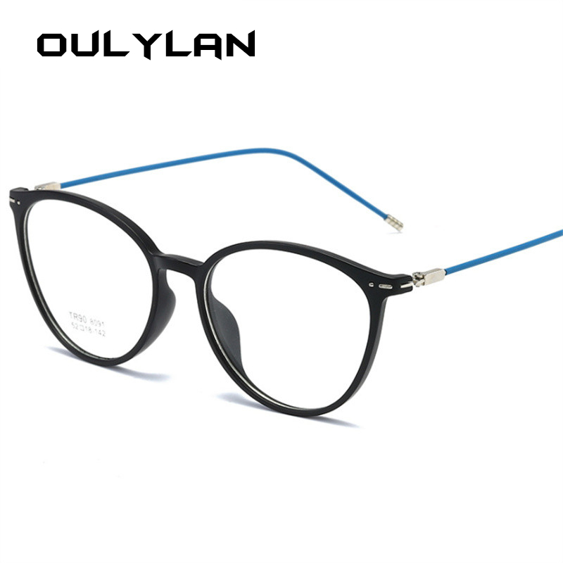 Oulylan Classic Finished Myopia Glasses Men Women Transparent Eyeglasses Ladies Finished Short-sight Eyewear -1.0 -3.0 -4.0 -6.0