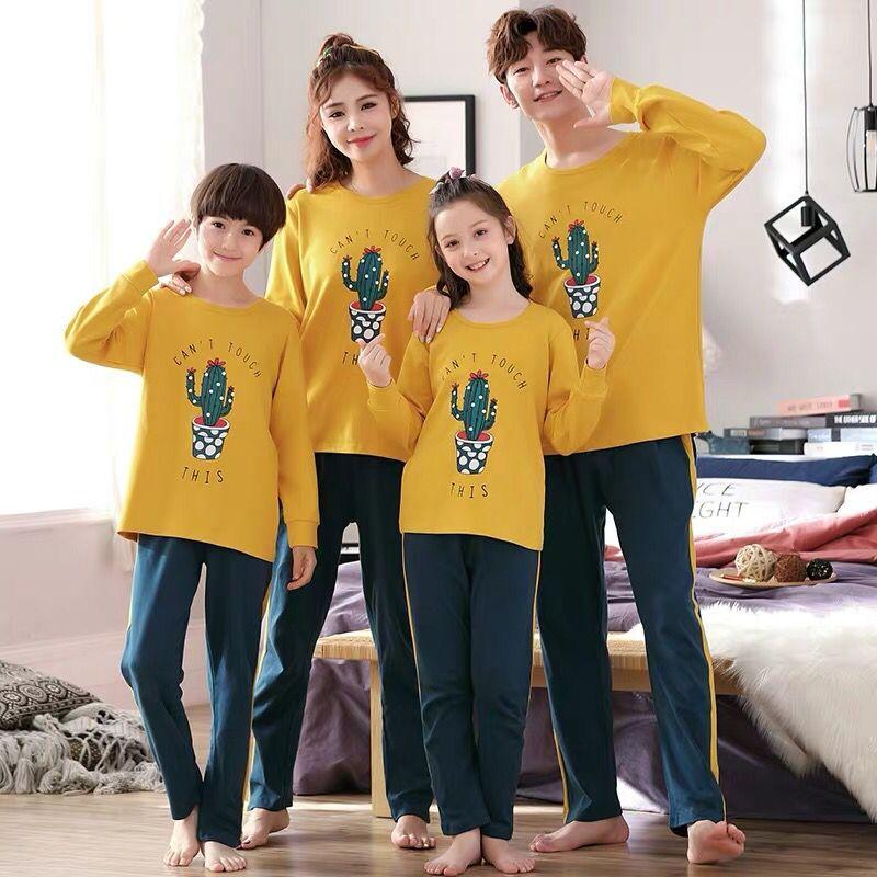Family Matching Pajamas Set Father Son Night Wear Romper Cotton Pajamas Mother Daughter Clothes Pyjamas 5