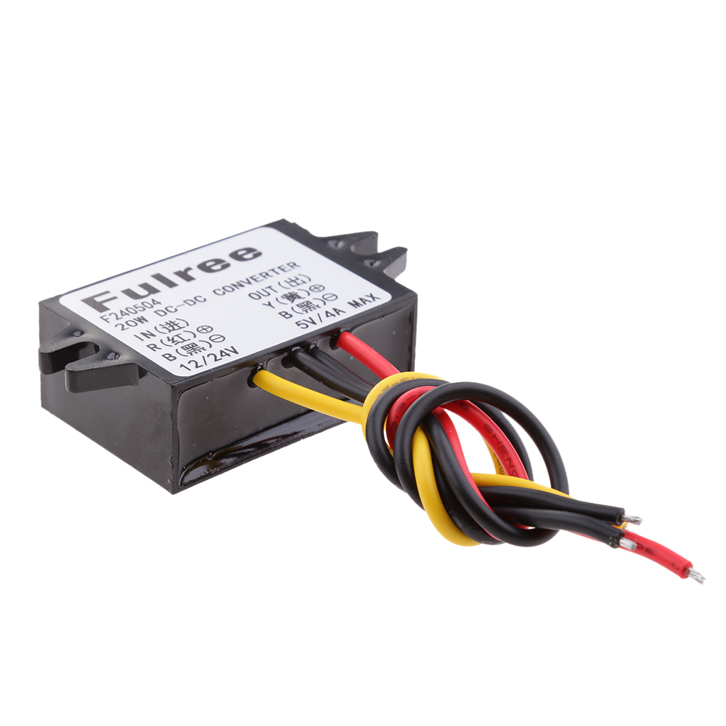 <font><b>DC</b></font> Volt <font><b>Converter</b></font> 8-36V <font><b>12V</b></font>/24V Step Down to <font><b>5V</b></font> <font><b>4A</b></font>/20W Car LED Power Supply Waterproof image
