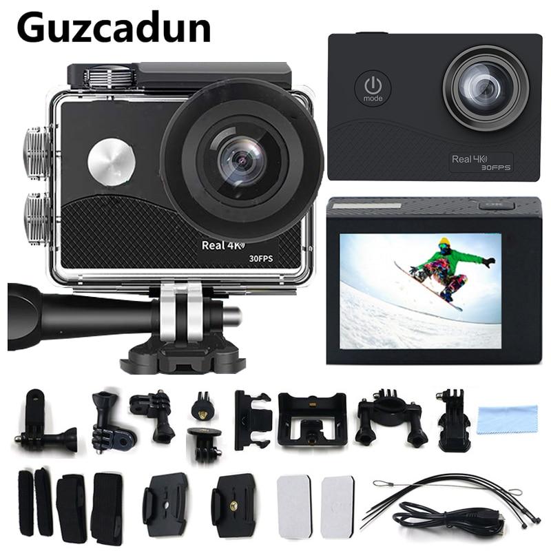 Guzcadun 4K Action Camers Wifi Sport Cameras Outdoor Cam 4K Underwater Waterproof Camera Diving Surfing go pro Helmet Cam