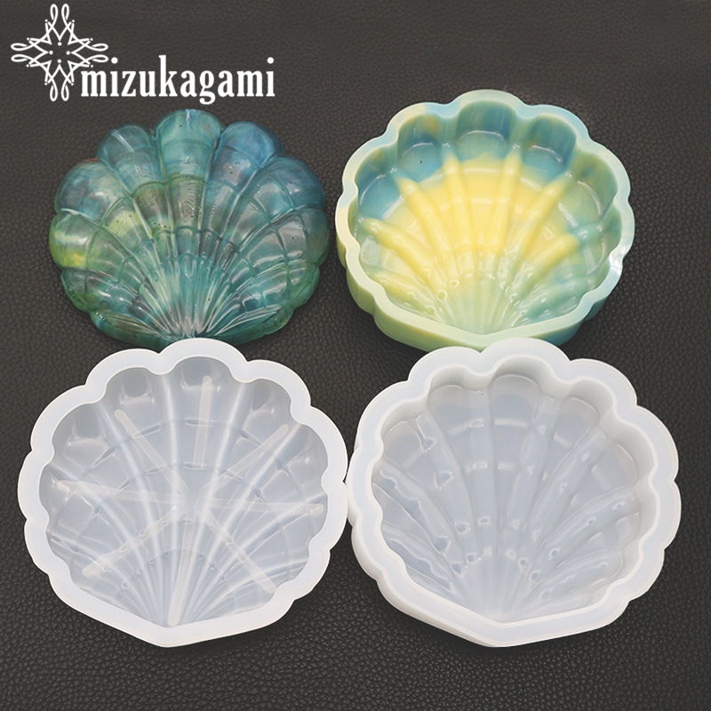 1pcs Transparent Silicone Mold Shell Mold Resin Decorative Craft For DIY Large Shell Storage Box Epoxy Resin Molds For Jewelry