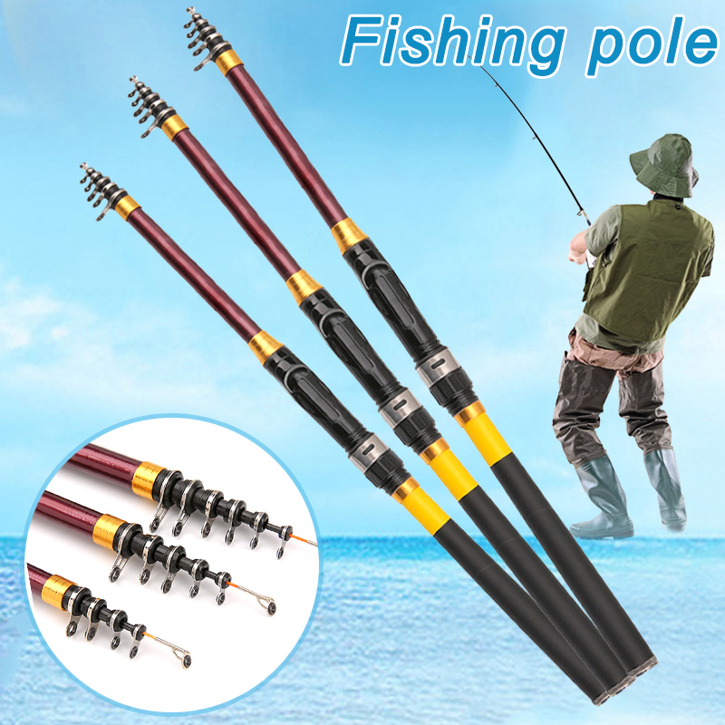 3.6-6.3 M Portable Telescopic Carbon Fiber Carp Spinning Fishing Rods Tackle MT