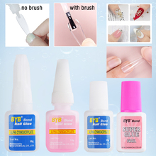 1Bottle Strong Nail Glue Fast Drying For False Nails Extend Tips Rhinestone Decoration Acrylic Gel With Brush Accessories BE1866
