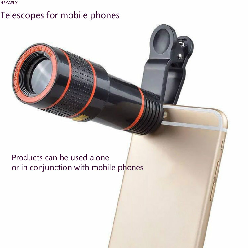 8X 12X Magnification Long Focus Single Cell Telescope High definition Telescopes No Dark Angle General Purpose Mobile Phone in Monocular Binoculars from Sports Entertainment