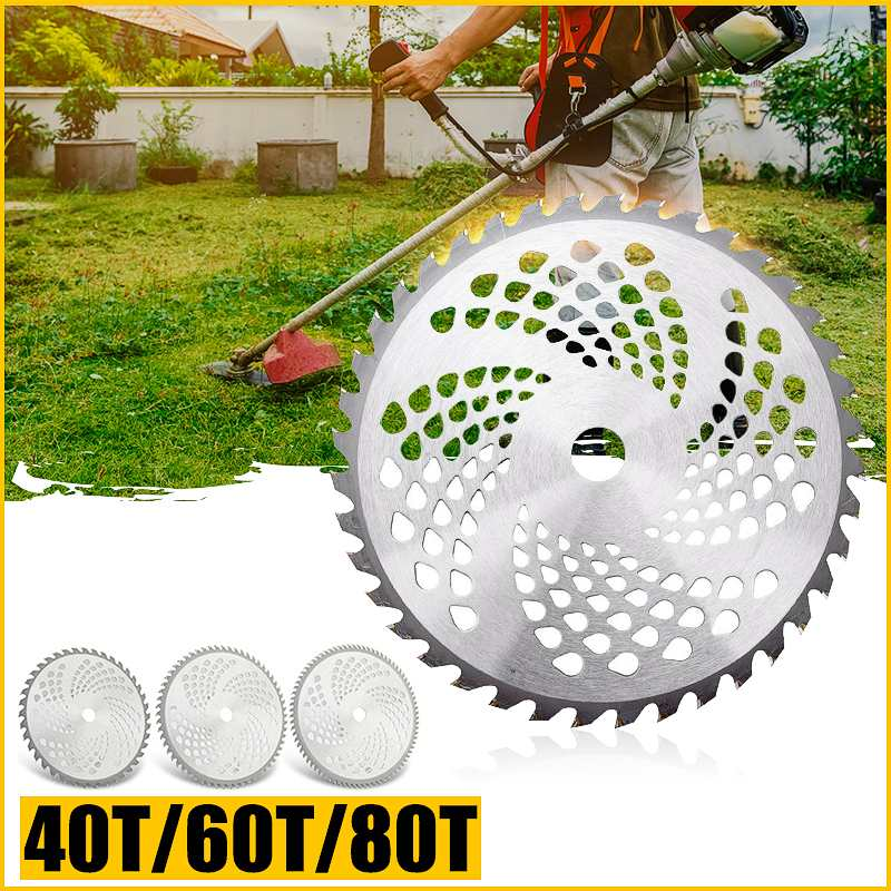10 Inch 40T/60T/80T Alloy Metal Brush Cutter Saw Blade Lawn Mower Grass Cutter Blade For Garden Tool Replacement Cutting Disc