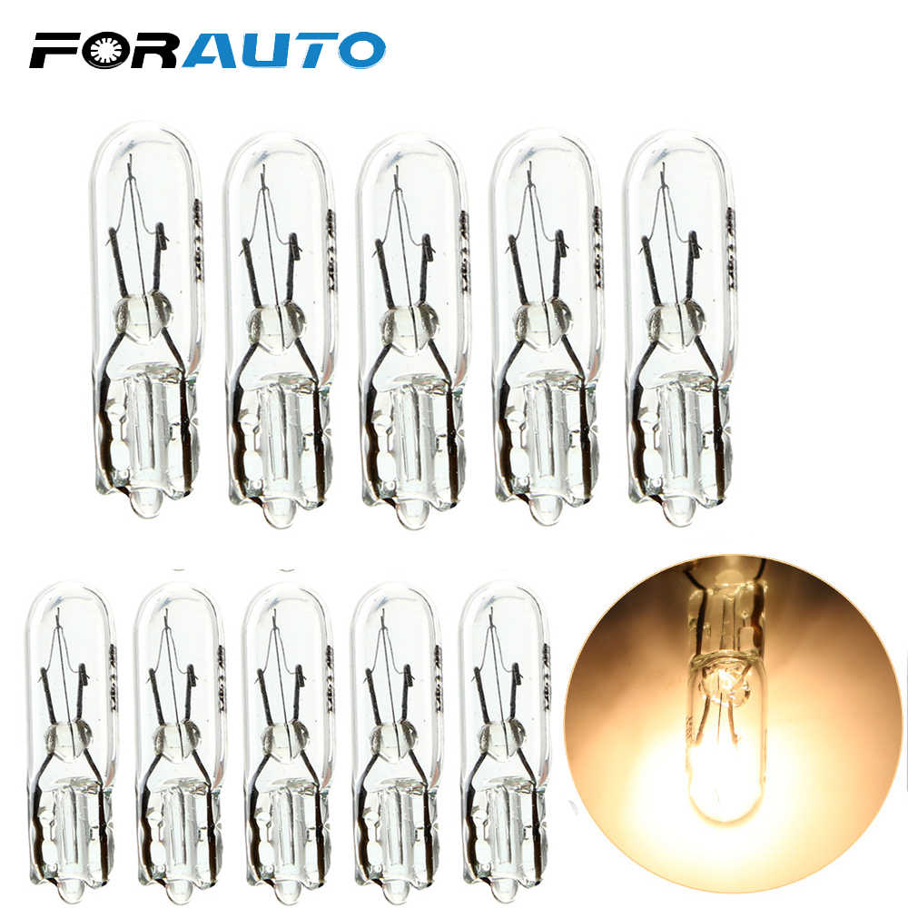 Forauto 10Pcs T5 286 Halogeenlamp Auto Instrument Panel Lamp Auto Wedge Dashboard Lamp 1.2W 12V Licht lichtbron Auto-Styling