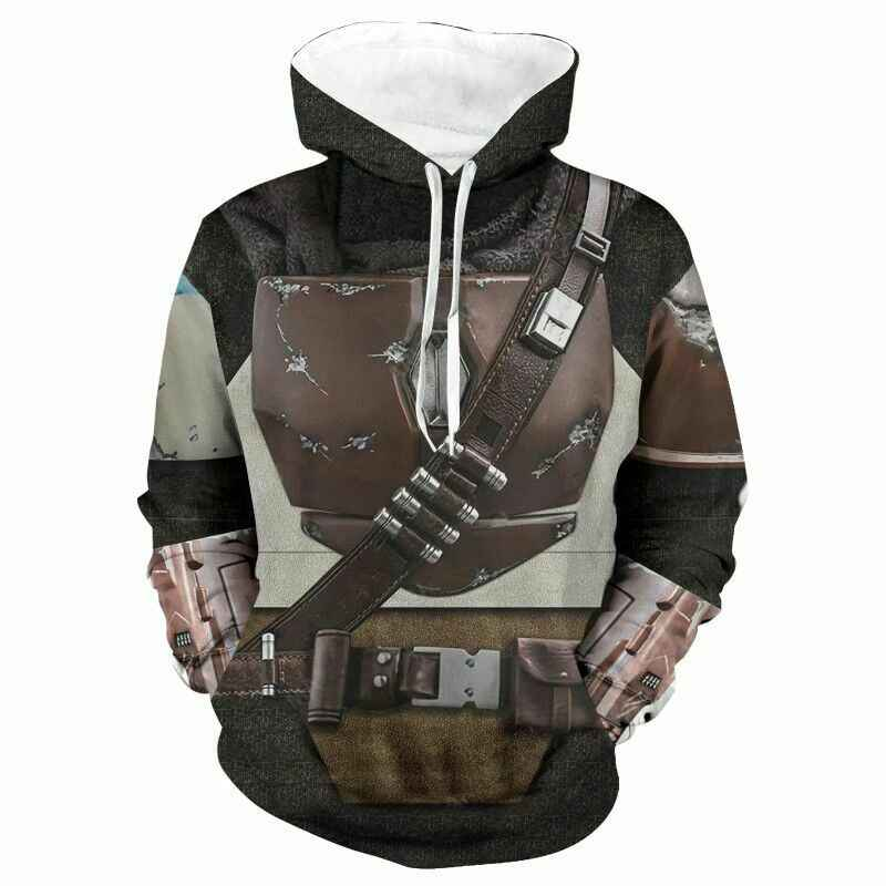 Star Wars The Mandalorian 3D Print Hoodies Sweatshirts Cosplay Costumes Hooded Casual Coat Jacket