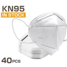 40 Pcs KN95 Masks FFP2 4 Layers Filter Dust Mouth PM2.5 Face Mask Flu Personal Protective Health Care Mask Fast Shipping