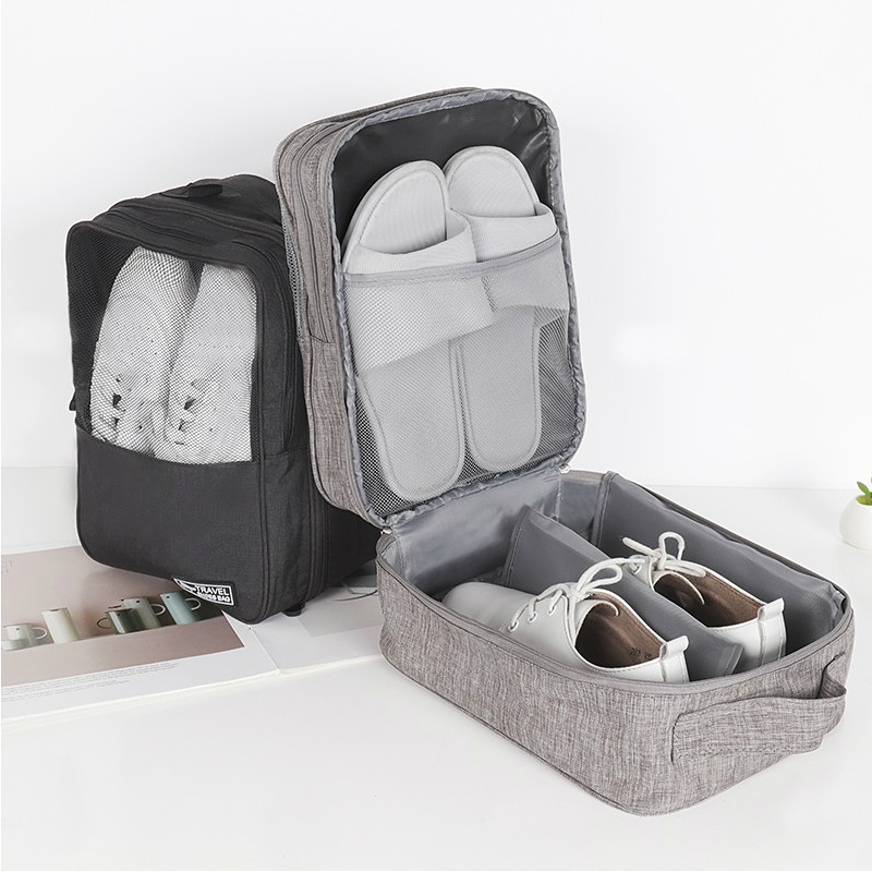 Mesh Shoe Storage Bag Soft Fitness Sneakers Socks Organizer Portable Boots High Heels Collection Pouch Case Travel Accessories