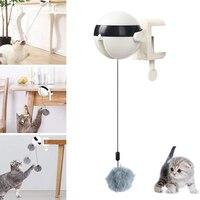 Pelota de juguete para gato de elevación automática eléctrica, rompecabezas interactivo, Bola de Gato inteligente, juguetes interactivos para gato, juguetes de felpa